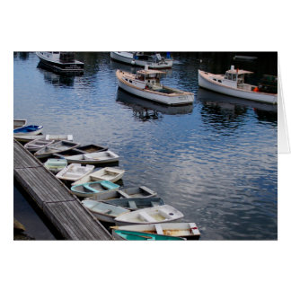 Greeting Card PHOTOGRAPH OF BOATS