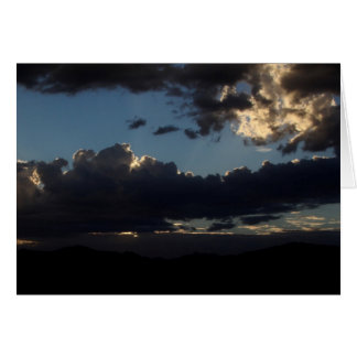 Greeting Card - PHOTOGRAPH OF DARK CLOUDS II