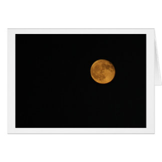 Greeting Card - PHOTOGRAPH OF HARVEST MOON