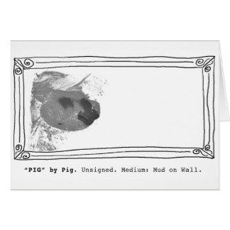 Greeting Card - Pig Art.