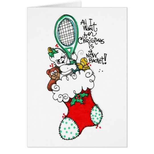 Greeting Card -Racket for Christmas