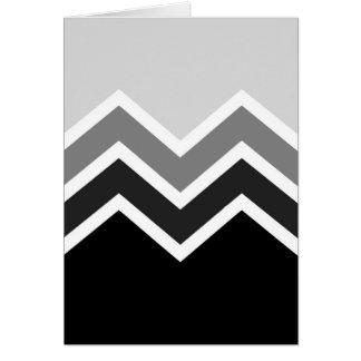 Greeting Card Retro Zig Zag Chevron Pattern