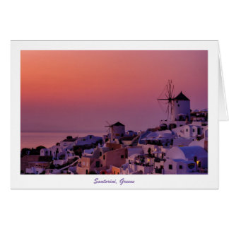 Greeting Card - Santorini Sunset, Greece