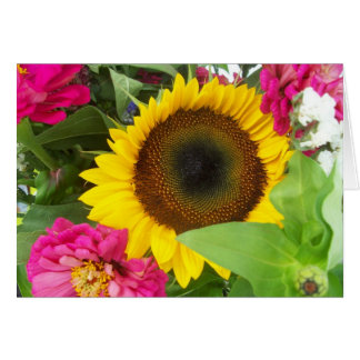 Greeting Card: Sunflower Bouquet Greeting Card