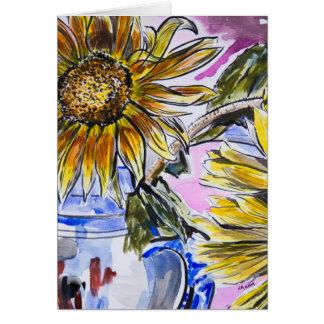 greeting card: Sunflowers and jug Card