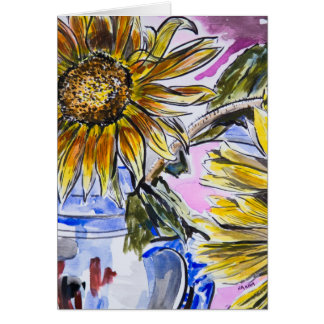 greeting card: Sunflowers and jug Greeting Card