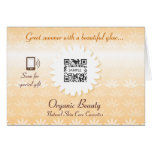 Greeting Card Template Organic Beauty