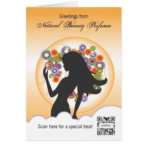 Greeting Card Template Perfume