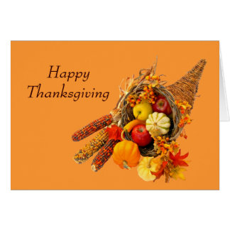 Greeting Card--Thanksgiving Card