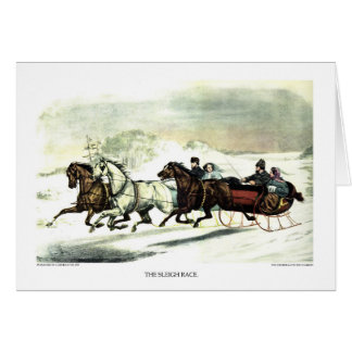 Greeting Card - The Sleigh Race