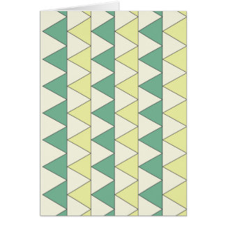 Greeting Card TRIANGLE PATTERN Blank Inside