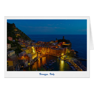 Greeting Card - Vernazza, Italy at Dusk