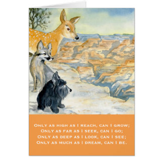 Greeting Card w/ envelope - Grand Canyon Wisdom