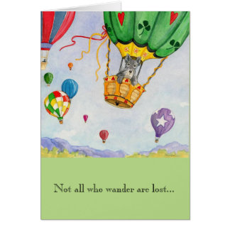 Greeting Card w/envelope - Hot Air Balloon Dreams