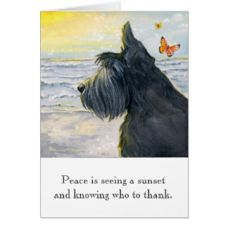 Greeting Card w/ envelope - Sunset Peace
