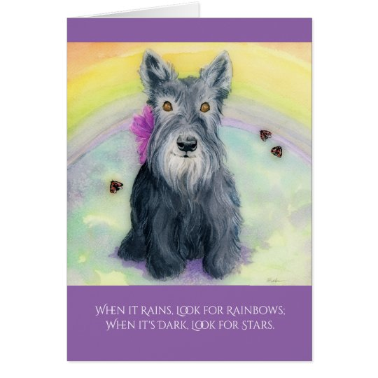 Greeting Card, W/ envelopes - Rainbows & Stars Card