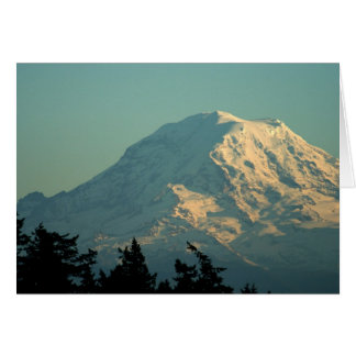 Greeting Card: Winter Mt. Rainier Card