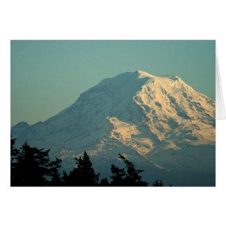 Greeting Card: Winter Mt. Rainier Greeting Card