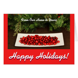 Greeting Card With Christmas Berries
