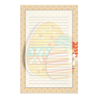 Greeting card with Easter egg symbol Personalised Stationery