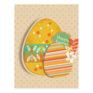 Greeting card with Easter egg symbol Postcard