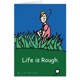 Greeting card with golf illustration and quote