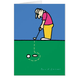 Greeting card with golf theme