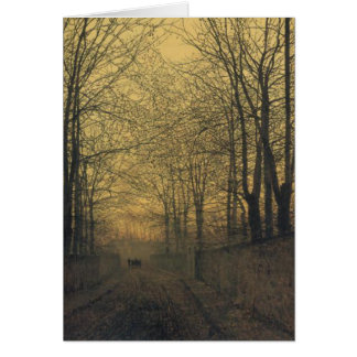 Greeting Card With John Atkinson Grimshaw Painting