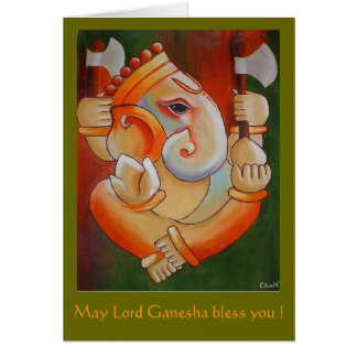 Greeting card with Lord Ganesha