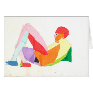 "Greeting Card with ""Pinata Man"" by Amber Larsen"