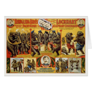 Greeting Card with Ringling Bro's Poster Print