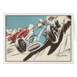 Greeting Card With Track Racing Poster Print