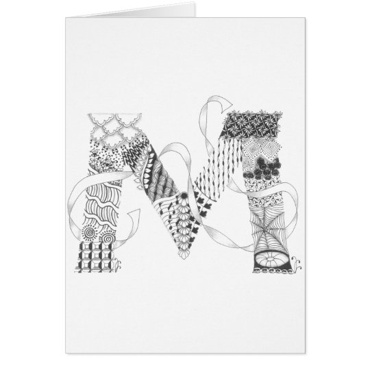 "Greeting Card - Zenletter ""M"""