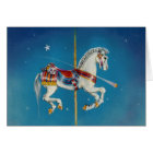 Greeting Cards - Red, White & Blue Carousel Horse