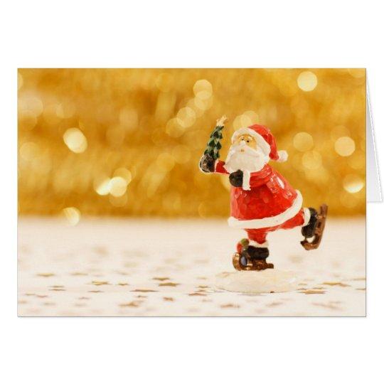 Greeting Cards-Santa Claus Skating Card