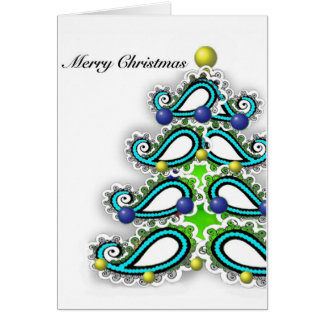Greeting Christmas Card with Persian Design