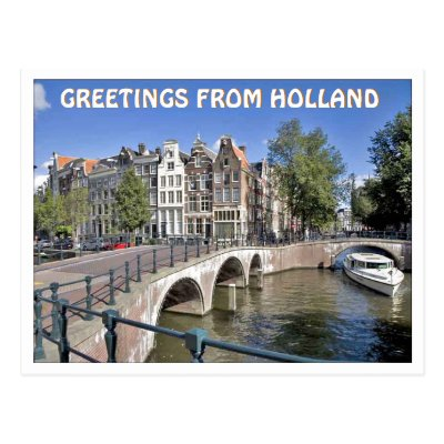 Greetings from amsterdam postcard zazzle m4hsunfo
