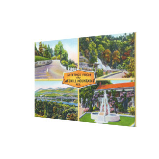 Greeting From with Scenic Views Gallery Wrapped Canvas