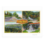 Greeting From with Scenic Views Post Cards