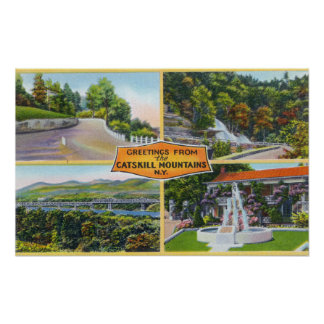 Greeting From with Scenic Views Poster