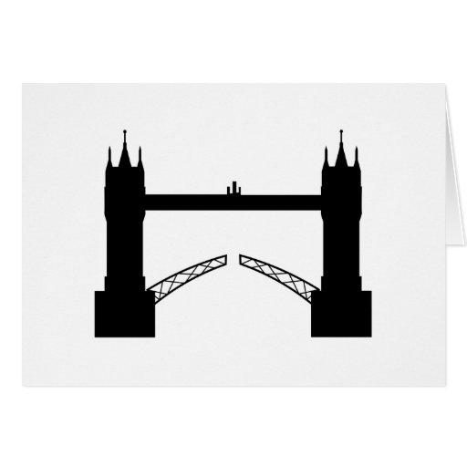 Greeting map Tower Brigde London Cards