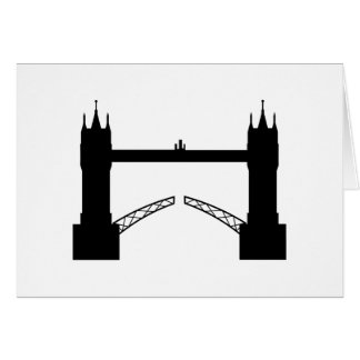 Greeting map Tower Brigde London Greeting Card