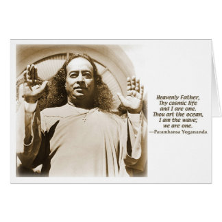Greeting/Note card. Affirmation by Yogananda Greeting Card