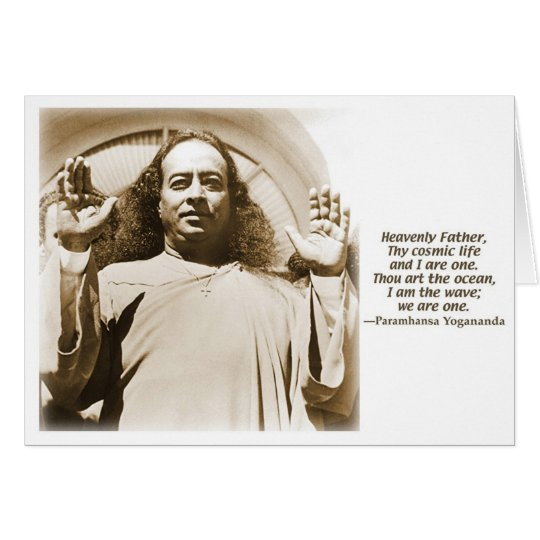 Greeting/Note card. Affirmation by Yogananda Card