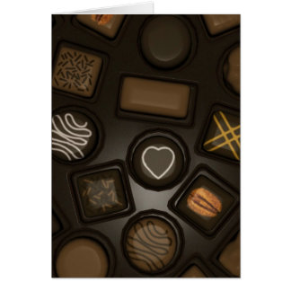 Greeting Note Card For Chocolate Lover