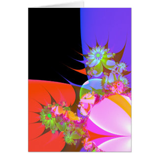 greeting of fractal flowers 2 greeting card