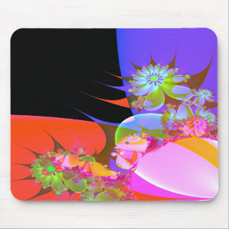 greeting of fractal flowers 2 mouse mat
