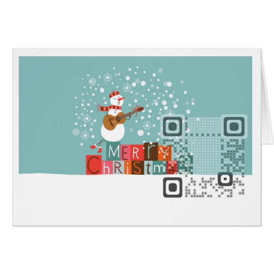 "Greeting QR Code Card 7""x5"""