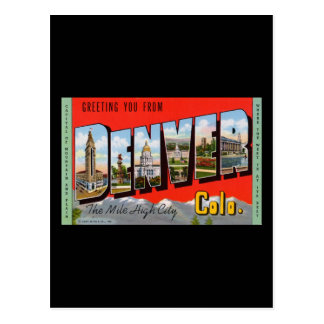 Greeting You from Denver Colordao Postcard