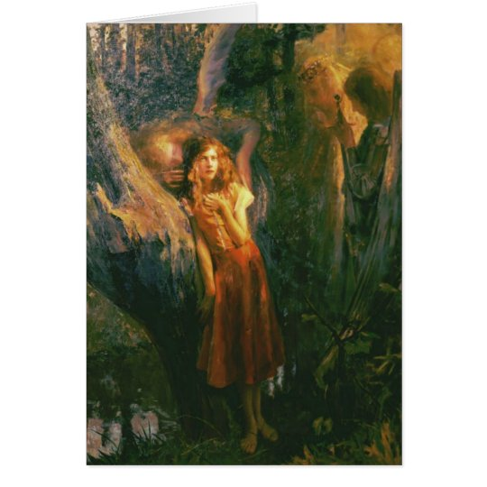 Greetingcard With Gaston Bussiere Painting Card